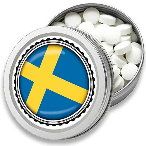 FAN Mint | 3er Set Pfefferminz Bonbons mit Schweden Flagge | Geschenk, Souvenir SchwedenFahne | Bonbon-Dose, Fan-Artikel, Party Deko (Schweden)