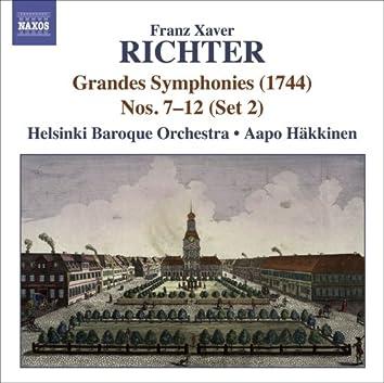 Richter, F.X.: Grandes Symphonies (1744), Nos. 7-12 (Set 2)
