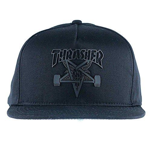 Thrasher Skategoat Sonic Weld - Gorra para hombre (talla única), color negro