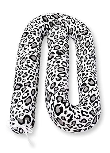 Amilian Bettschlange Nestchen Nestchenschlange für Kinderbett Bettumrandung Stoßstangen Kopfschutz für Baby Bettrolle 210 cm Muster: Panther-Muster Grau