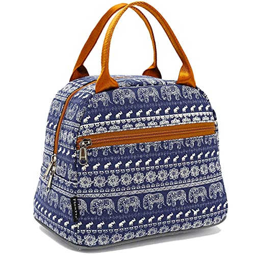 Lunch Bag Tote Bag Lunch Organizer Lunch Holder Insulated Lunch Cooler Bag for Women/Men,Elephant
