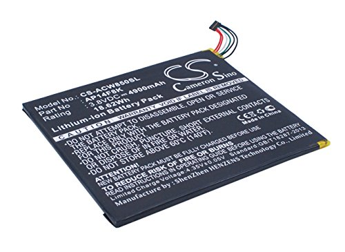 Battery Replacement for ACER Iconia Tab A1-850-A1410 Iconia Tab B1-810 Iconia Tab B1-820 Iconia Tab W1-810 Predator 8 AP14F8K 1ICP4 101 110 KT.0010M.003