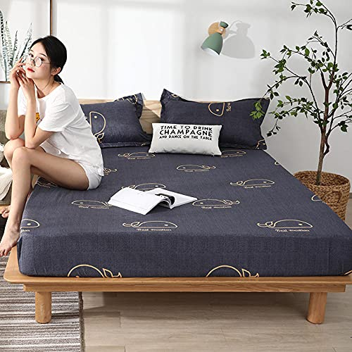 CYYyang colchón Acolchado, antialérgico antiácaros, Sábana Impermeable de un Solo Producto hotel-10_180cm × 220cm