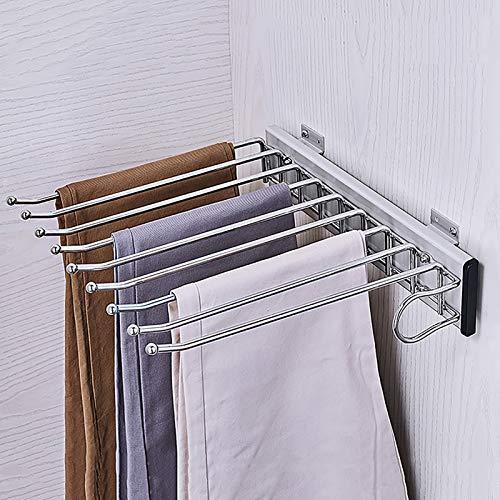 Porte-pantalon Alliage d'aluminium Télescopique Chargement latéral Multifonction Ménage À l'intérieur de l'armoire Porte-pantalon suspendu Porte-pantalon (Couleur : B)