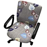Echaprey One-Piece Stretchy Washable Rotating Swivel Computer Office Chair Covers Anti-Dust Removable Dining Chair Covers (Pattern 2)