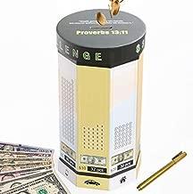 Money Saving Box Piggy Bank for Adults Travel Fund, Vacation Fund, Adventure Fund and Honeymoon Fund (Dollar Green)