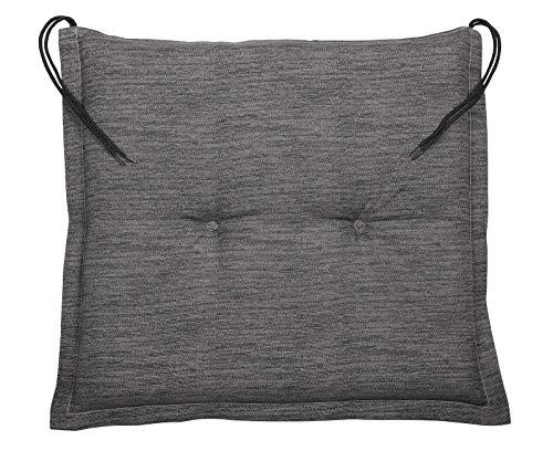 GXK Sitzkissen Hockerkissen Gartenmöbel Auflage Sitzpolster 45x40cm grau 2X