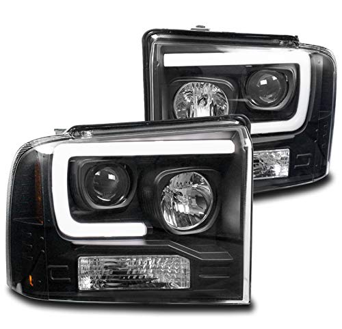 ZMAUTOPARTS LED Black Projector Headlights Headlamps For 2005-2007 Ford F-250 F-350 F-450 F-550 Super Duty
