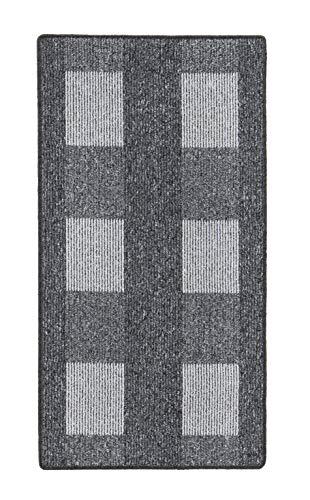 andiamo, Teppich Flachgewebe Dalia strapazierfähig, schadstoffgeprüft 67 x 120 cm grau