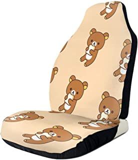RachelReichert Rilakkuma Imported Car Seat Cover, Car Interior Car Seat Cover for Most Cars, Cars, SUVs, Vans1 PCS