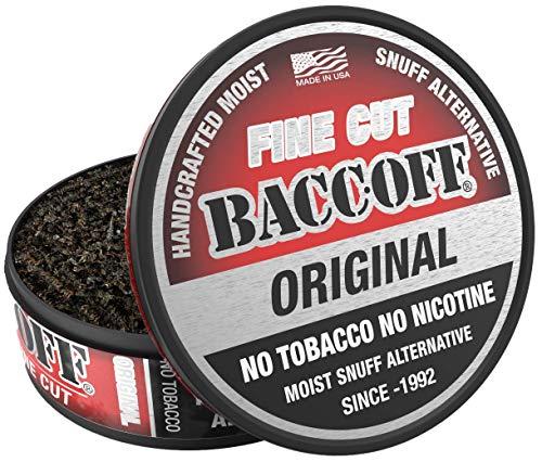 BaccOff, Original Fine Cut, Premium Tobacco Free, Nicotine Free Snuff Alternative (10 Cans)