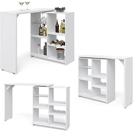 Vicco Vega Bar Bar Bar Bar Table Bistro Table Kitchen Flexible Can Be Used In Many Storage Spaces Amazon De Home Kitchen