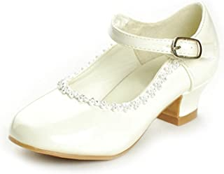 6222e293f5a DressForLess Rhinestone Detailed Patent Flower Girl Shoes