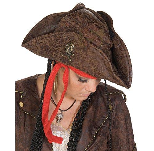 Chapeau de pirate comme cuir avec tresses