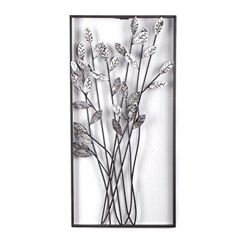 DESIGN DELIGHTS EINZIGARTIGE WANDDEKO ZWEIGE | Metall, 62 cm, Silber/braun | Wanddekoration Blumen