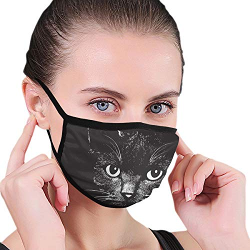 Anti-Dust Mundmaske Wiederverwendbare Gesichtsmaske für Kinder Teenager Männer Frauen Katzenkopf Tier für T-Shirt