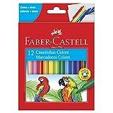 Canetinha Hidrográfica, Faber-Castell, 15.0112CZF, 12 Cores