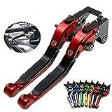 Kupplungshebel, Falteinstellung 1 Paar CNC-Kupplungshebel mit kurzer Bremse Ersatz für Ducati DIAVEL/Carbon, Diavel/Carbon/XDiavel/S, 1198 / S/R, 1098 / S/Tricolor, SV62,Rot