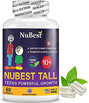 NuBest Tall 10+ - Advanced Growth Formula - Powerful Bone Strength Support - for Children  10+  & Teens Who Drink Milk Daily - Grow Strong and Stay Healthy - 60 Capsules