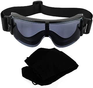 SolUptanisu X800 Outdoor HD Vision Gafas de protección antihielo a Prueba de Agua antivaho Gafas a Prueba de Polvo Táctico Fácil de Limpiar Ciclismo Protección para los Ojos Gafas de Sol