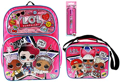 L.O.L. Surprise! Backpack and Insulated Lunch Tote PLUS 6 Click Pen