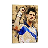 WERTQ Novak Djokovic Tennis Pro Poster dekorative Malerei