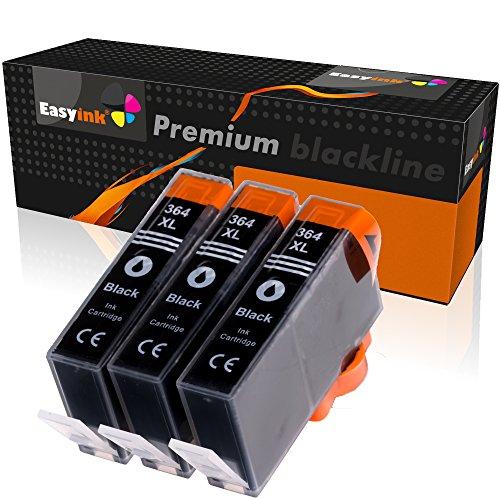 EasyInk CN684EE - Cartuchos de tinta para HP 364XL (3 unidades), color negro