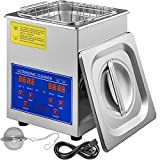 Mophorn Time 2L Ultrasonic Cleaner Jewelry Eyeglass Commercial Industrial Digital Timer Basket, Silver