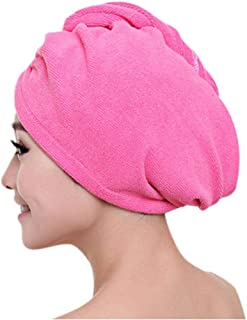 Yangfeng Women Quickly Dry Hair Hat Microfiber Shower Cap Strong Water Absorb Drying Towel D- Quick-drying towel