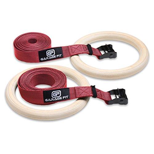 Wood Gymnastic Rings, Gym Rings, Fitness Rings, Exercise Rings, Wooden...