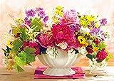 Xykhlj Pintar por números para Adultos Planta de Flores de Colores Pintura por Números cumpleaños, Bodas, día de Navidad, decoración Sin Marco