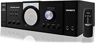 Pyle 1000 Watt Premium Home Audio Power Amplifier - Home Theater 4 Channel Stereo Receiver w/ Speaker Selector & Remote - for Amplified TV, Subwoofer Speakers, PA System - PT1100