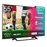Hisense UHD TV 2020 55AE7200F - Smart TV Resolución 4K con Alexa integrada, Precision Colour, escalado UHD con IA, Ultra Dimming, audio DTS Virtual-X, Vidaa U 4.0