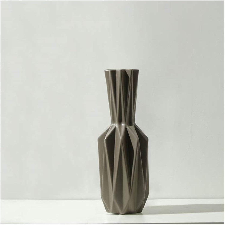 MSH Vase en céramique Nordique Moderne Minimaliste OrneHommests Salon Vase Vase Original (Edition   A)