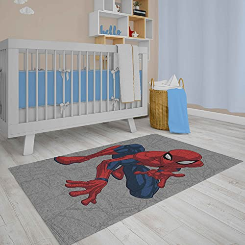 Vivi Casa Tappeto Disney Antiscivolo Pelo Rasato 80 x 120 cm (Spiderman Verticale 2)