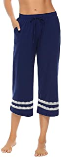 iLOOSKR Autumn Winter Women Ladies Comfy Bottoms Lace Edge Pants Sleepwear Trousers for Hip Lifting Tights