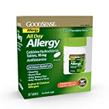 Goodsense All Day Allergy, Cetirizine Hcl Tablets 10 Mg, Antihistamine for Allergy Relief, 30 Count