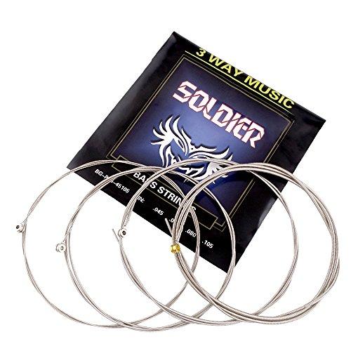 Mugig Juego de Cuerdas para Bajo 4 Cuerdas de Acero