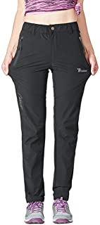 Women's Outdoor Lightweight Quick Dry Sportswear Water Resistant Hiking Pants with Pockets