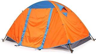 CATRP varumärke tält utomhus 1–2 personer dubbelskikt vattentät ventilation lätt campingtält, 2 färger apelsin