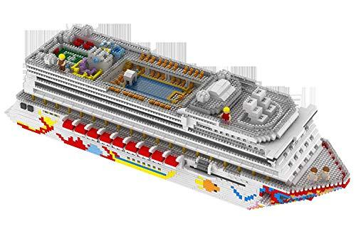 LNLJ Cruise Ship Building Blocks Set Modle DIY Diamant Mini-Gebäude Micro Nano Blocks Brick Zusammengebautes Spielzeug-Kind-Geschenk, Geeignet Für Kinder