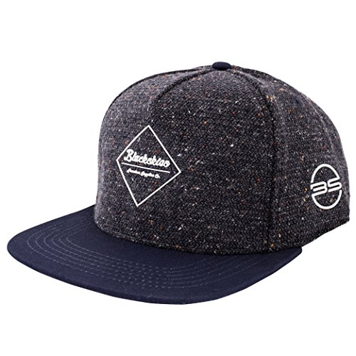 Blackskies Re Snapback Cap Blau Schirm Unisex Premium Baseball Mütze Kappe Wolle