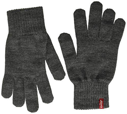 Levi's Ben Touch Screen Gloves Guanti, Grigio (Regular Grey 55), M Uomo