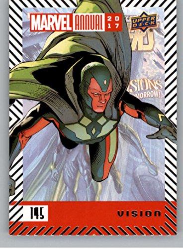 2018 Upper Deck Marvel Annual #145 Vision SP Short Print Marvel Trading Card Vision Superhero