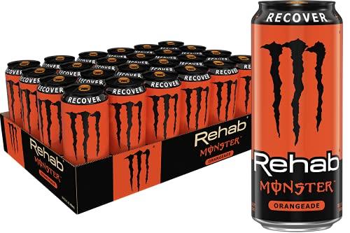 Monster Rehab Energy Drink, Raspberry Tea, 15.5 Ounce (Pack of 24)