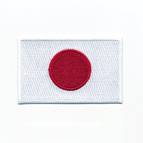 hegibaer 60 x 35 mm Japan Flagge Flag Nihon Nippon Tokio Patch Aufbügler Aufnäher 0931 B