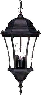 Acclaim 5026BK Brynmawr Collection 3-Light Outdoor Light Fixture Hanging Lantern, Matte Black