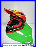 UFO - Casco Cross Enduro Motard Off-Road Onyx Wake 2018, talla L 55-56, color rojo