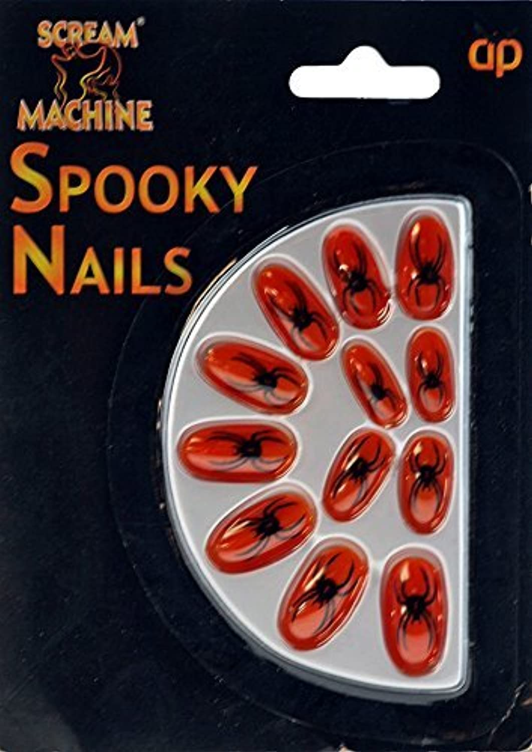 Halloween Spider False Nails Fancy Dress   Dressing Up Party  Neon orange by DP