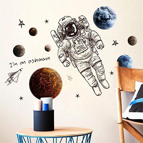 erthome 1DIY Astronaut Wandtattoo Familie Home Aufkleber Wandbild Kunst Decor Abnehmbare